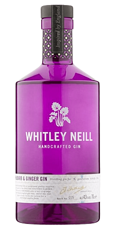 Whitley Neill, Rhubarb & Ginger 43% 70 cl.