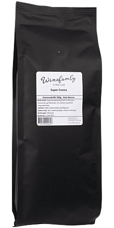 Super Crema espresso 500 g. (Hele bønner)