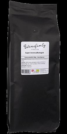 Super Aroma Økologisk Espresso 500 g. (Hele bønner)